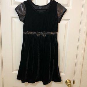 George Black Velvet Sequin Party Holiday Dress